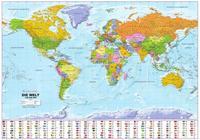 Politische Weltkarte mit Flaggen