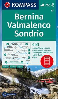 KOMPASS Wanderkarte Bernina, Valmalenco, Sondrio