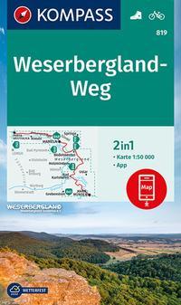 KOMPASS Wanderkarte Weserbergland-Weg
