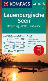 KOMPASS Wanderkarte Lauenburgische Seen, Ratzeburg, Mölln, Schaalsee