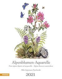 Alpenblumen-Aquarelle Kalender 2021